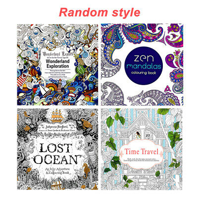 For Adult Kids Coloring Of Books Relieve Stress Magic Creative Enchanted Forest