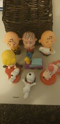 2015 Lot of 7 Peanuts The Movie Snoopy & Charlie Brown McDonald's Toys