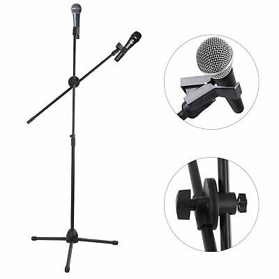 Professional Boom Microphone Mic Stand Holder Adjustable Heigh With 2 Free Clips