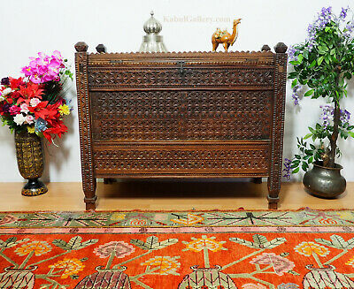 antik orient Truhe Antique treasure Dowry Chest Truhe nuristan Afghanistan -ULM5