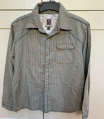 Boys Striped Long Sleeved Shirt Fat Face Age 8-9 ⭐️Gr8  Condition⭐️
