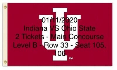$215-2 Tix-Bob Knight Homecoming!!!  Indiana Vs. Ohio St. 01/11/2020, 12p local