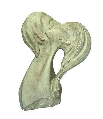 1980 David Fisher Austin Productions Faces of Love Sculpture Statue Signed
