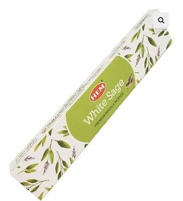 Hem White Sage  Pack of 20 Incense Sticks.Brand New