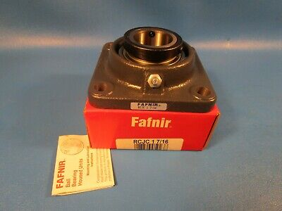 Fafnir RCJC 1-7/16, 4 Bolt Flange Bearing, Eccentric Collar Locking, USA, Timken