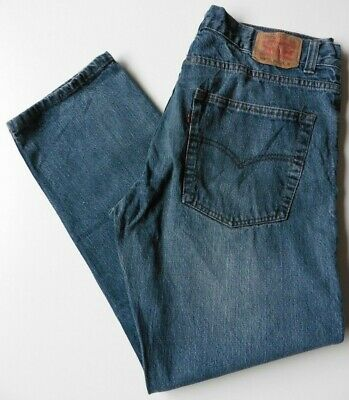 Boys' Men's Levis 505 Straight Leg Jeans W34 L29 Blue Levi Strauss Size 34S