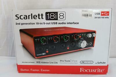 Focusrite Scarlett 18i8 18x8 USB Audio Interface (2nd Generation) - NEW!