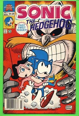 SONIC THE HEDGEHOG #1 1993 Mini Series ARCHIE COMICS Premiere Issue NEWSSTAND