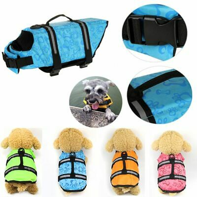 Dog Life Jacket Pet Safety Clothes Puppy Surf Saver Coat Swimming Preserver