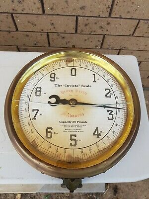 Rare Brass Henry Berry Melbourne Scales made in U.S of America