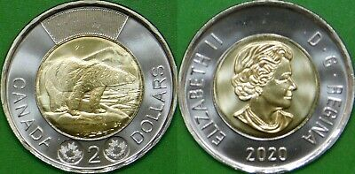 2020 Canada Toonie Graded as Brilliant Uncirculated From Original Roll
