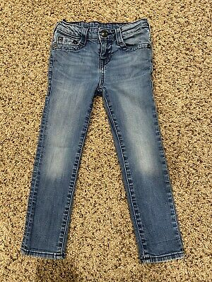 True Religion Skinny Jeans Kids Blue Size 5 Vintage Cute!