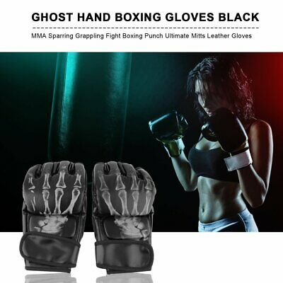MMA Sparring Grappling Fight Boxing Punch Ultimate Mitts Leather Gloves HA