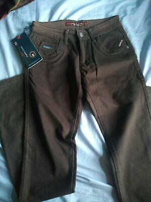 NEW Boys brown chino style trousers - W 27 - L 34
