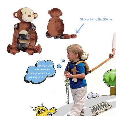 Toddler Safety Walking Harness Anti-lost Strap Wrist Leash Plush Kid Backpack