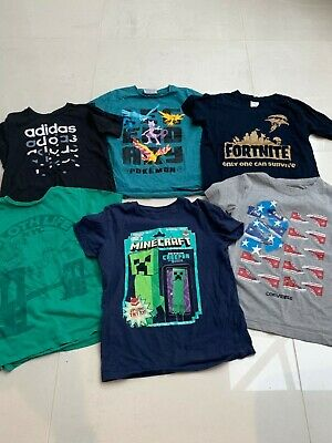 Boys T-Shirt Bundle Age 9 Yrs Pokemon Minecraft Converse Next Adidas