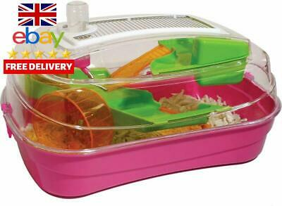 Rosewood Abode Dwarf Hamster And Mouse Home, Hot Pink