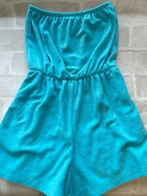 Girls Turquoise Blue Towelling Playsuit 9 Years Candy Couture Vgc Hardly Worn