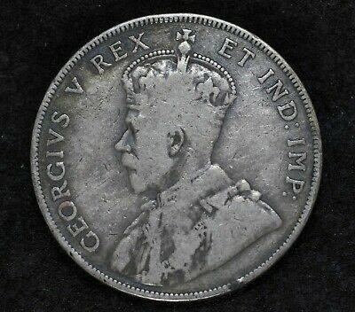 1911 Canada George V Half Dollar Silver 50 Cents Coin