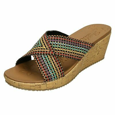 Details about Skechers Ladies On The Go Luxe Graceful Natural Toe Post Sandals 15321 (LR)