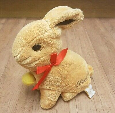"Lindt 10"" Soft Plush Toy Gold Easter Bunny + Bell - For Filling Rabbit"