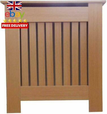 Jack Stonehouse Oak Modern Mdf Radiator Cover Cabinet With Vertical Slat Grill -