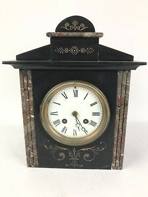 Antique Japy Freres Roehm & Son Detroit Slate/Marble Shelf Mantel Clock #1599
