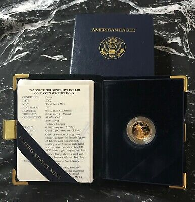 2002 - 1/10 - $5 - American Gold Eagle Proof from The United Sates Mint