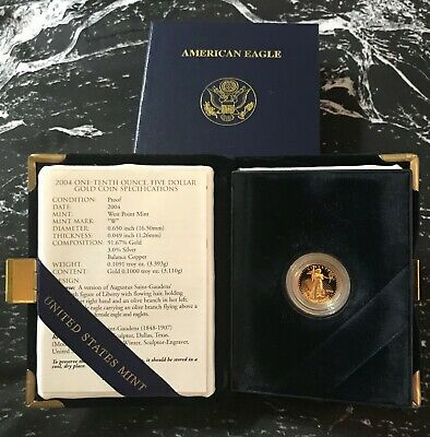 2004 - 1/10 - $5 - American Gold Eagle Proof from The United Sates Mint