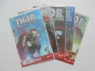 Thor God of Thunder Collection Lot of 5 (Marvel, 2012)