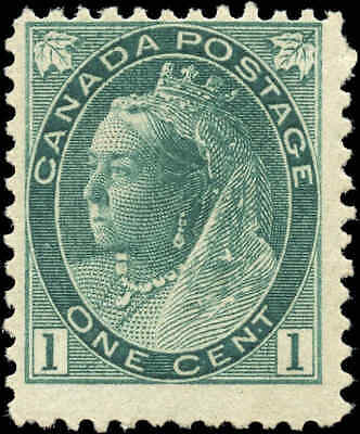 1898 Mint H Canada F Scott #75 1c Queen Victoria Numeral Issue Stamp