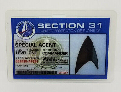 Star Trek ID Badge-Discovery Section 31 Special Agent Prop Costume Cosplay