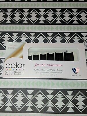 Color Street Gotham Nights French Manicure 100% nail polish strips