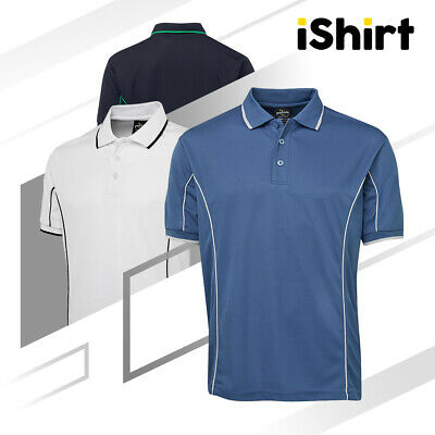 Adult Polo Shirt Short Sleeve 100% Polyester Piping Cool Dry Polo 160Gsm