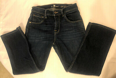 7 For All Mankind Men's Boys Carsen Blue Jeans Size 29 X 24