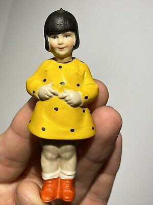 Early 1920's German Bisque Comic Nodder Mary Ann Jackson From Our Gang Set Mint