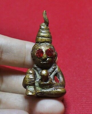 Antique PHRA NGANG Thai Buddha Amulet Pendant For Love Attraction #R8
