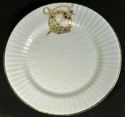 "Set of 6 Royal Tara Celtic Brooch 6 1/4"" Bread Plate Fine Bone China Hand Galway"