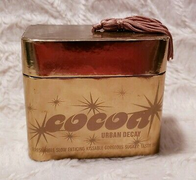 URBAN DECAY Cocoa Sparkly Sweet Body Powder Kissable Leopard Puff .63 oz / 18 g