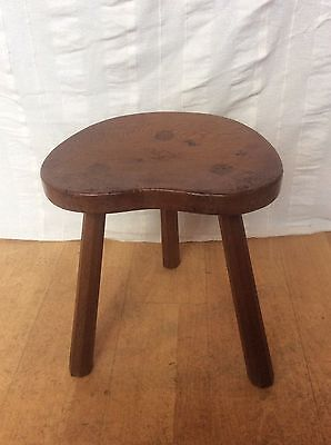 English Oak Albert Jeffray Eagleman Handmade Arts & Crafts 3 legged Stool