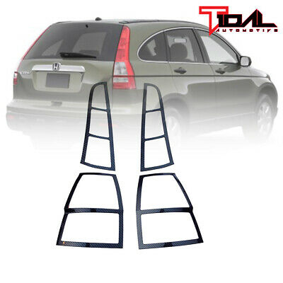 EAG Fits 07-09 Toyota Tundra Tail Light Bezels Cover Black Carbon Fiber Look ABS