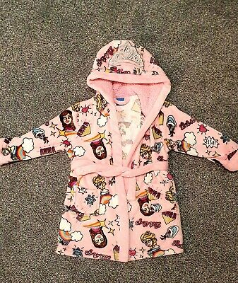 Girls Disney Frozen Dressing Gown Housecoat Robe Age 4yrs