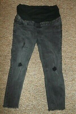 Ladies black Maternity over Bump Skinny denim jeans size 18 by Jenna NEW LOOK
