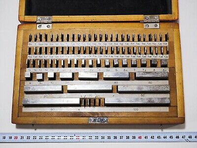 Precision Metric Slip Gauge Block Set 0-100mm (83 pcs) Endmass Satz Grade 1 USSR