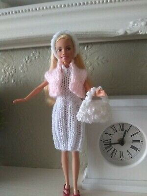New Hand Knitted 4 piece Barbie Doll clothes set/outfit (9)