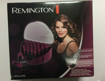 Remington Fast Curls Rollers - KF40E Hot Hair Styling Rollers with Easy Clip