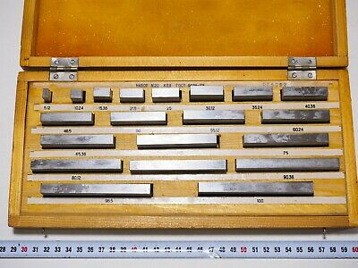 Precision Metric Slip Gauge Block Set 5,12-100 (20pcs) Endmass Satz Grade 1 USSR