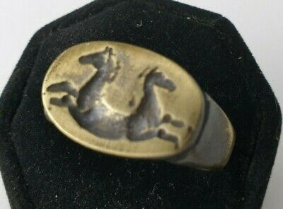 Ancient.  Bronze    Ring-Vintage-Antique ROMAN-RARE