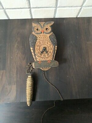 Vintage Wooden Owl Cuckoo Style Clock Spares