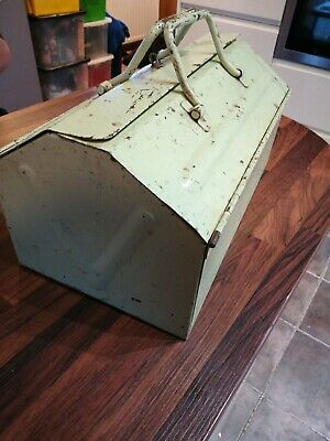 Vintage Metal Tool Box Lockable